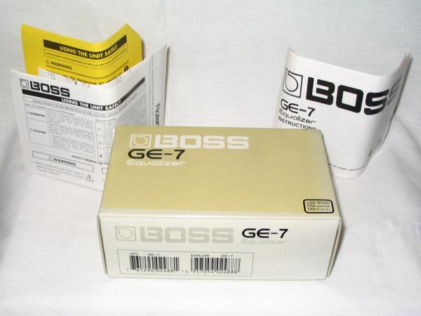 Boss GE-7 Guitar Equalizer Effect Pedal