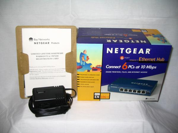 Netgear EN106TP 10Base-T Ethernet Hub